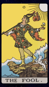 The Fool card of Tarot