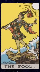 The Fool card of Tarot